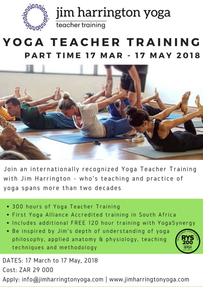 Part Time Yoga Teacher Training 2018 Cape Town