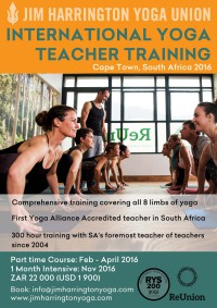 200 hour yoga teacher training cape town